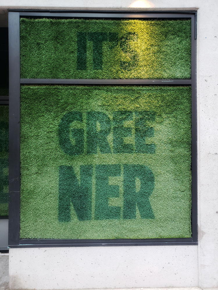 The Grass is Greener Window